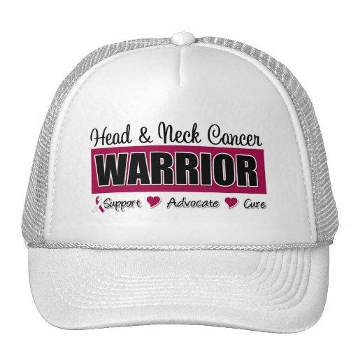 Guerrero del cáncer de cabeza y cuello gorro de camionero