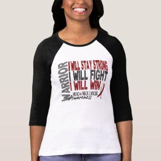 Guerrero del cáncer de cabeza y cuello camisetas