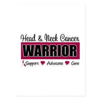 Guerrero del cáncer de cabeza y cuello tarjetas postales