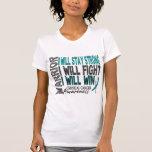 Guerrero del cáncer de cuello del útero camisetas