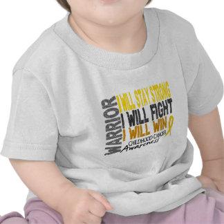 Guerrero del cáncer de la niñez camiseta
