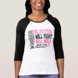 Guerrero del cáncer de pecho camisetas