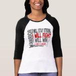 Guerrero del cáncer de pulmón camiseta