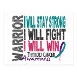 Guerrero del cáncer de tiroides tarjeta postal