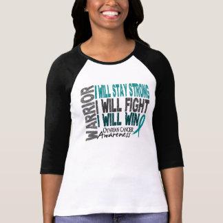 Guerrero del cáncer ovárico camisetas