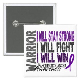 Guerrero del cáncer pancreático pin cuadrada 5 cm