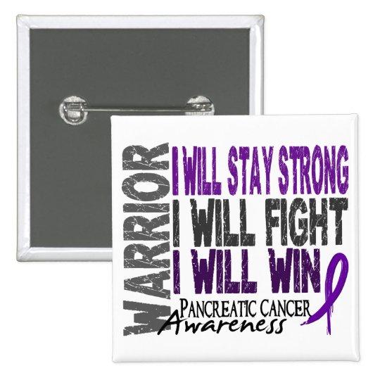 Guerrero del cáncer pancreático pin cuadrado