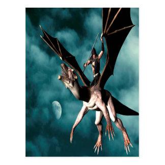 Guerrero del cielo del dragón postal