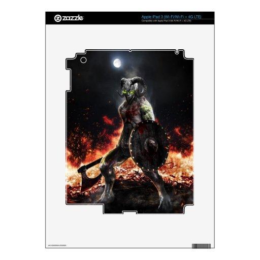 Guerrero del demonio iPad 3 skins