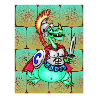 """Guerrero del dragón folleto 8.5"""" x 11"""""""