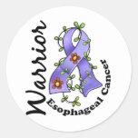 Guerrero del esófago 15 del cáncer pegatinas redondas