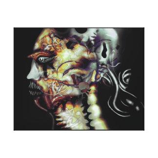 Guerrero del fantasma impresión de lienzo