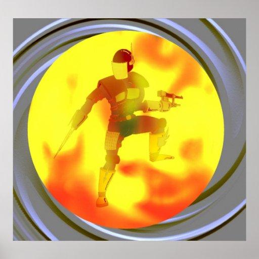 Guerrero del fuego poster