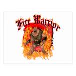 Guerrero del fuego tarjetas postales