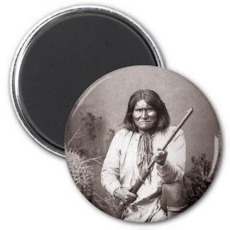 Guerrero del indio del nativo americano del imán para frigorifico
