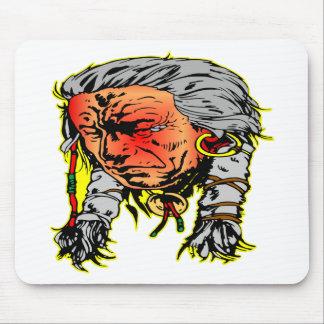 Guerrero del indio del nativo americano alfombrilla de raton