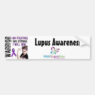 Guerrero del lupus pegatina de parachoque
