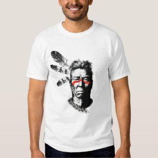 guerrero del nativo americano remera