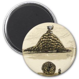 Guerrero del Pangolin Imán Redondo 5 Cm