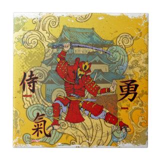 Guerrero del samurai tejas  cerámicas