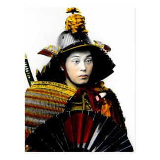 Guerrero del samurai del viejo 侍 del guerrero del tarjetas postales