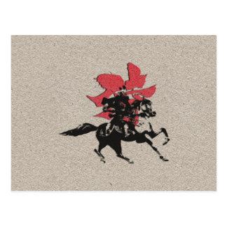 Guerrero del samurai postal