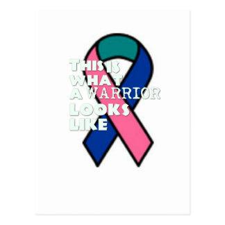 Guerrero del superviviente del cáncer de tiroides tarjetas postales
