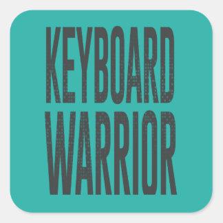 Guerrero del teclado pegatina cuadrada