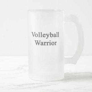 Guerrero del voleibol taza cristal mate