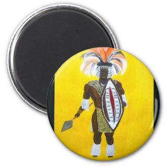 Guerrero del Zulú Imán Redondo 5 Cm