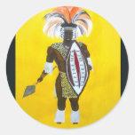 Guerrero del Zulú Pegatinas