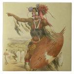 Guerrero del Zulú, Utimuni, sobrino de Chaka el úl Azulejos Ceramicos