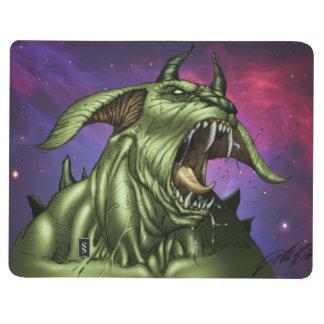 Guerrero extranjero del monstruo del perro por el cuadernos grapados