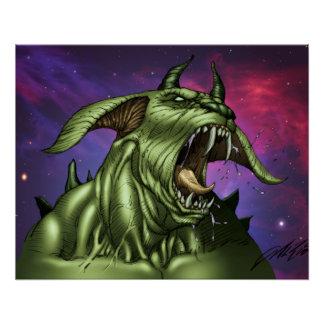 Guerrero extranjero del monstruo del perro por el perfect poster
