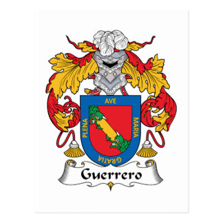 Guerrero Family Crest Postcard