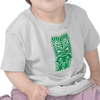 guerrero feroz del tótem de dios del verde del tik camisetas