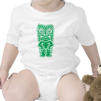 guerrero feroz del tótem de dios del verde del tik traje de bebé