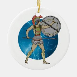Guerrero griego ornamento para arbol de navidad