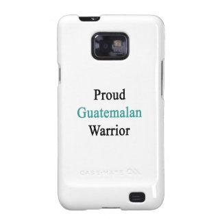 Guerrero guatemalteco orgulloso samsung galaxy SII carcasa