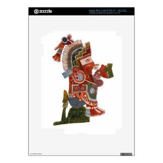 ¡Guerrero indio del maya con la taza de la cerveza iPad 3 Pegatina Skin