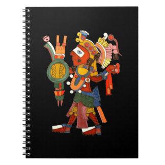 Guerrero indio maya del cuaderno