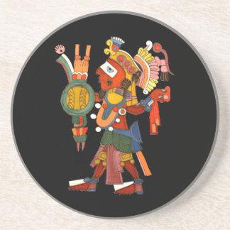 Guerrero indio maya del práctico de costa posavasos diseño