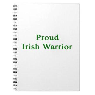 Guerrero irlandés orgulloso libros de apuntes