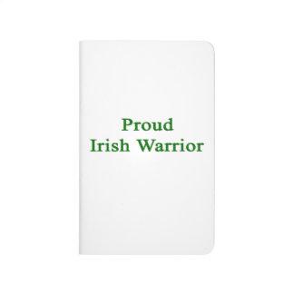 Guerrero irlandés orgulloso cuadernos
