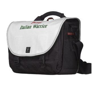 Guerrero italiano orgulloso bolsas para ordenador