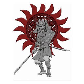 Guerrero Japón del samurai Postal