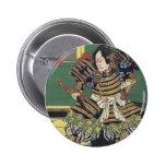 Guerrero japonés del samurai del vintage pin