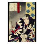 Guerrero japonés del samurai del vintage tarjeta