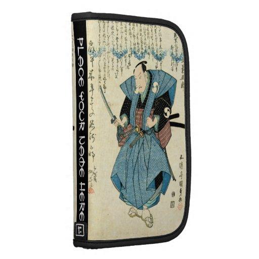 Guerrero japonés fresco del samurai del ukiyo-e de planificadores