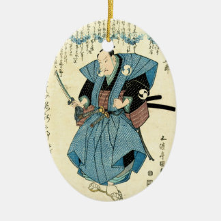 Guerrero japonés fresco del samurai del ukiyo-e ornamento para reyes magos